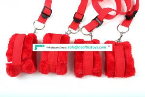 BDSM bondage restraint soft handcuffs fur underbed restraint