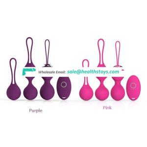 Ben Wa Balls Women Silicone Wireless Remote Control Massager Rechargeable Kegel Pelvifine Pelvic Floor Exerciser Muscle Trainer
