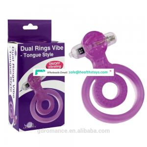 Best Delay Sex Products VIbratingTongue Style Cork Ring For Sell