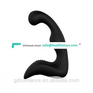 Best Gift Vibrating Black Silicone Prostate Massager For Men Sex Toys With Low Price