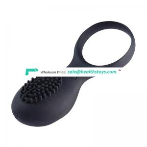 Cheap thrusting black silicone cock ring delay ejaculation penis ring for couple use