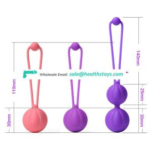 Customized Ben wa balls set stress ball for women vagina exercise kegel sex toys