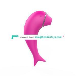 Dolphin shaped clit sucker vibrator nipple vagina sucking stimulator clitoris vibrator for women masturbation