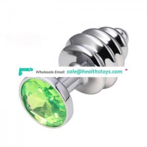 Factory Directly Anal Adult Toys Zinc Alloy Anal Plug