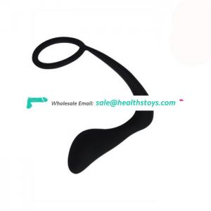Factory Price Silicone Anal Plug Sex Toy with Cock ring