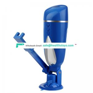 Factory wholesale multifunctional handfree electric masturbator with strong sucker and phone rack