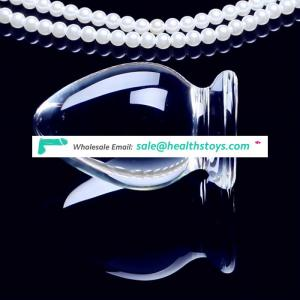 Female Masturbation Tool Quality Glass Anal Plug Sex Toys For Couples