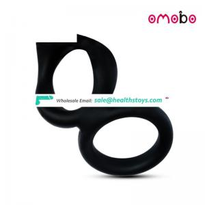 For Gay sex toys prostate stimulator penis enhancing silicone dual cock ring