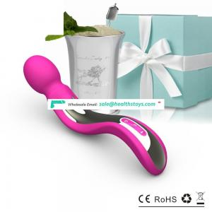 Girls silicone sex toys store, rechargeable strong masturbate vibrator seller body magic wand massagers