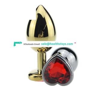 Heart-shaped Metal Butt Plug Prostate Massager Sex Toy for Men Woman Adult Products Anal plug