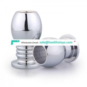 High Quality Aluminium Alloy Gay Anal Sex Toy Hollow Anal Plug