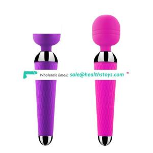 Hot Sale Silicone Japanese Sex Wand Massager Vibrator Sex Toy with 10 Speeds