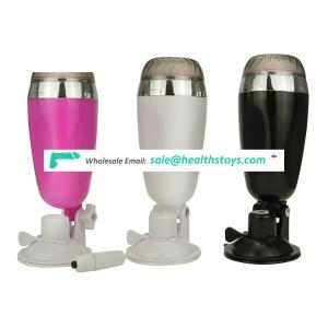 Hot selling Soft Silicone Vibration Suction System Sex Oral , X5 male masturbation aircraft cup