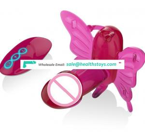 Internal vibrator toy wireless control silicone butterfly with penis Vibrator