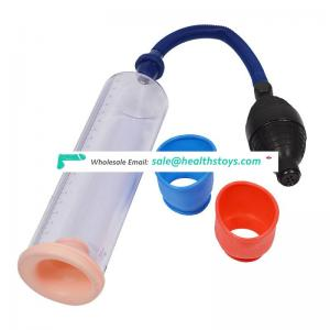 Male masturbation manual vacuum pump penis enlargement exerciser delay ejaculation