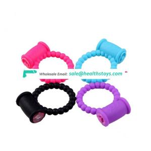Man penis ring vibrator delay ejaculation silicone cock ring sex toy