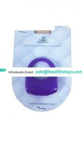 Medical grade soft silicone sex toys cock ring powered by rechargeable Li-ion battery