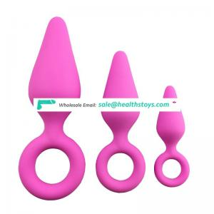 New 3pcs silicone anal vagina sex toy butt plugs for women and men adult products
