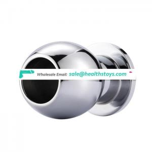 New Developed Adult Toy Aluminium Alloy Hollow Anal Plug
