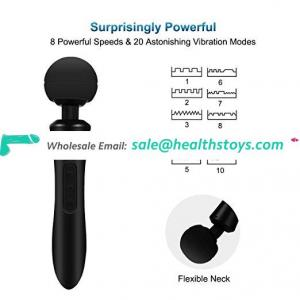 New rechargeable female  vibrating power wand massager sex products