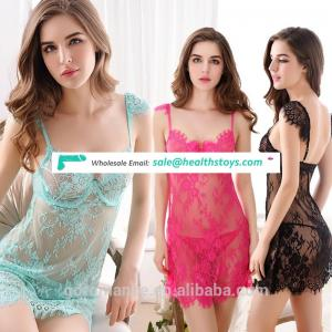 Nightgown Sexy Underwear Factory High-end Sexual Lace Strap Lingerie For Hot Women