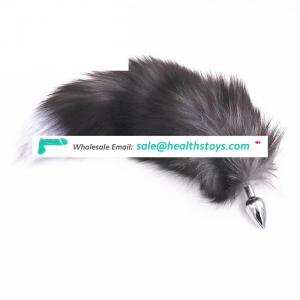 Promotion Gift for Gay Anal Plug Grey Fox Tail