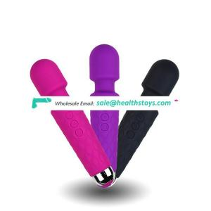 Rechargeable silicone sex massage toy 6 speed 10 frequency AV vibrator for women