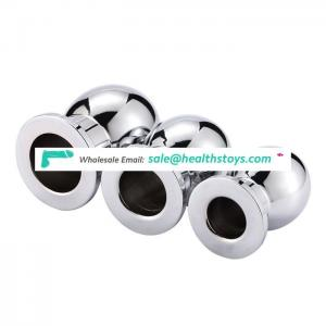 Reusable Male Anal Sex Toy Metal Hollow Butt Plug