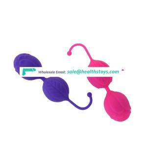 Rose shaped silicone ben wa ball vaginal exerciser kegel ball for women