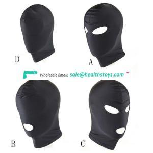 SM Sex Games 4 Type Fetish Mask Hood Open Mouth Eye Bondage Party Cosplay Slave punish Sex Headgear
