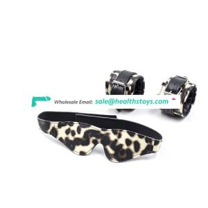 Sexy luxury leopard print bondage SM sets for adult sex products