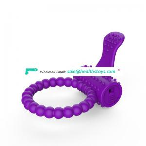 Silicone penis ring men vibrating sex cock ring vibrator for penis