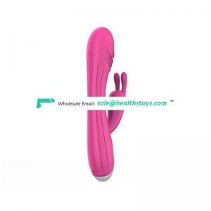 Silicone vibrator sex toy women purple g spot vibrator