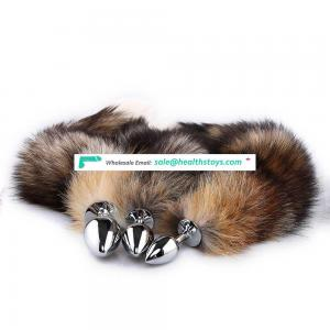 Stainless Steel Metal Fox Tail Anal Plug With Tail - Buy Anal Plug With Tail