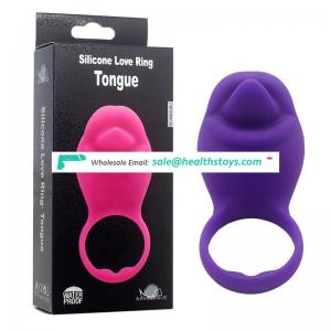 Top Sell Waterproof Vibrating USB Tongue Shape Cork Ring Male Sex Toys On Hot Sale