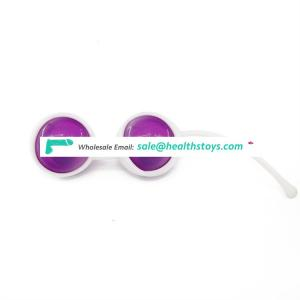 Two color of silicone kegel ball female vaginal massager vaginal tightening exercise device