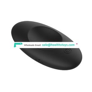 USB DC rechargeable silicone testicle massager with 7 powerful vibrations,black blue