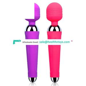 USB Rechargeable 10 frequency Silicone Waterproof Dildo Vibrator Sex Toy for Women