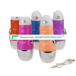 USB recharging and sound electric vibration Chinese girl masturbation cup for male