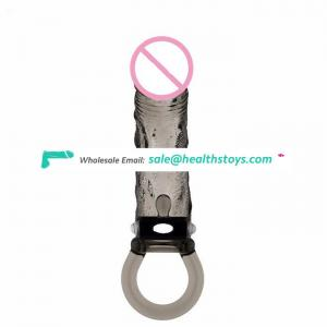 Wholesale Penis Enlargement Sleeves with Delay Ejaculation Cock Ring