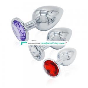 Wholesale Price Bulk Sex Toys Anal Plug Set Metal Material with Jewel