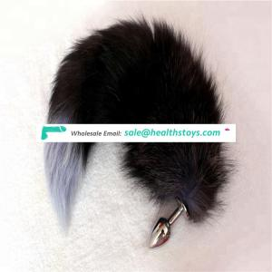 Wholesale Realistic Fox Tail 2.95 Inch Metal Anal Plug Female Anal Sexy Toys