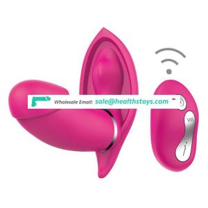 Wireless Remote control Double vibration heating vibrator sex toy pussy plug for women