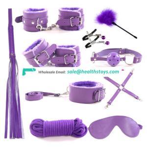 cosplay set leather bondage series under the bed restraint system set 10pcs