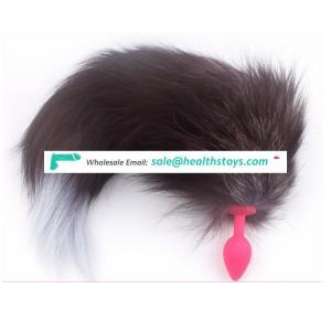 high quality sex toys fox tail anal plug silicone butt plug