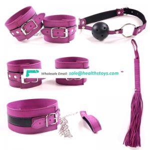 leather bondage kit under bed restraint set bedroom toys 5pieces