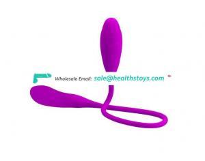 silicone double head extra long bullet vaginal anal vibrator for male female